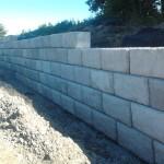 Mur de soutènement, Domaine vert nord, Mirabel