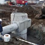 Installation d'un séparateur hydrodynamique, Sainte-Marthe-sur-le-Lac
